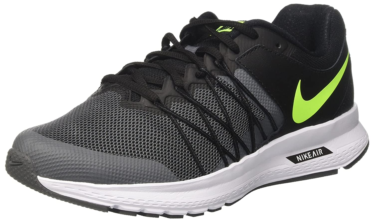 4f232376e78 Nike Air Relentless 6 Black Volt Dark Grey White Men s Running Shoes  Buy  Online at Low Prices in India - Amazon.in