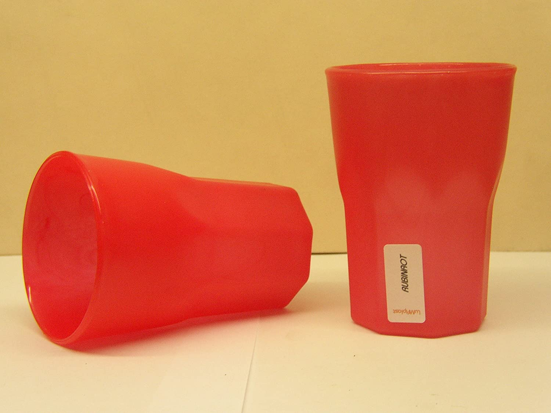 25 Mehrwegbecher Plastikbecher Cocktail BecherPP 0,3l Schwere Ausf/ührung 100/% Made in Germany Farbe rot