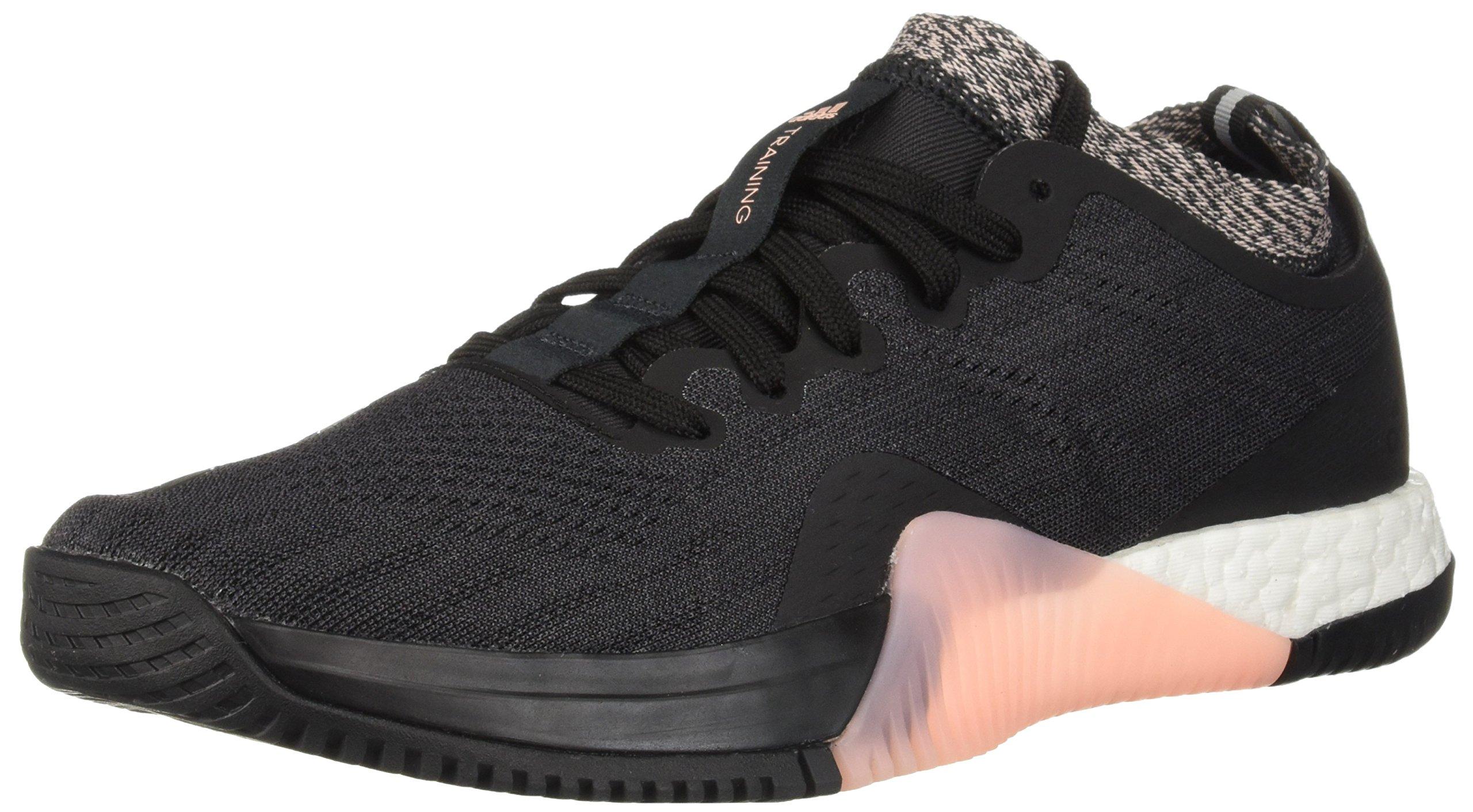 adidas Women's Crazytrain Elite Cross Trainer, Black/Carbon/Clear Orange, 5 M US