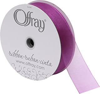 product image for Berwick Simply Sheer Asiana Offray Ribbon, 1-1/2 W X 25 yd, Wild Berry