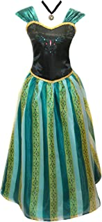 American Vogue Adult Women Frozen Anna Coronation Dress Elsa Coronation Costume Princess Costume  sc 1 st  Amazon.com & Amazon.com: Disguise Womenu0027s Frozen Anna Traveling Deluxe Costume ...