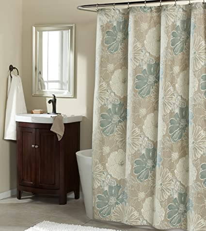Suzy Blue Fabric Shower Curtain By MStyle 72quot