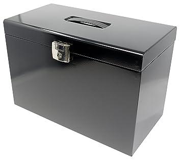 Foolscap Metal File Storage Box   Inc 5 Suspension Files, Filing Tabs U0026  Inserts
