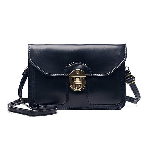 3d914a5ae VOLGANIK ROCK Womens Synthetic Leather Small Crossbody Bags Retro Cell  Phone Wallet Purse Bag for Women: Handbags: Amazon.com