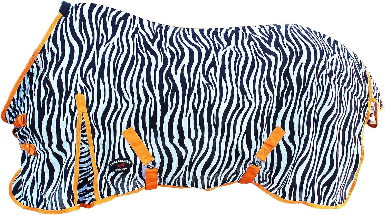 Challenger Horsewear 60 Horse Fly Sheet Summer Spring Airflow Mesh UV Zebra 7319