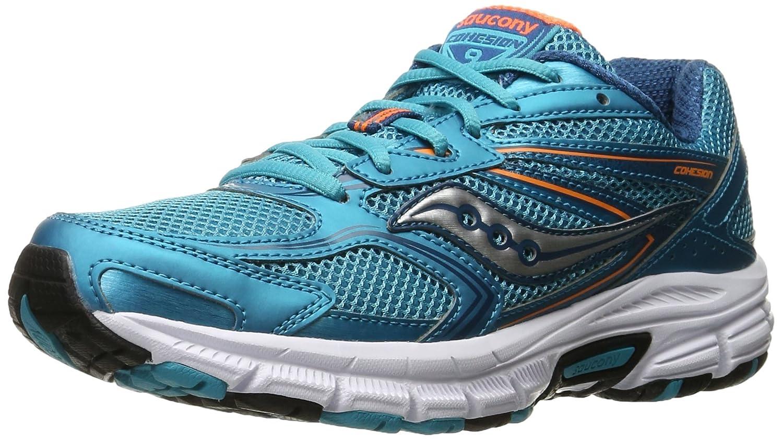 Saucony W Cohesion 9 Grey/Blue - Zapatillas de Deporte Mujer 8 B(M) US Azul/Naranja