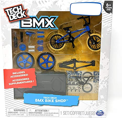 Tech Deck Bmx Bike Shop With Accessories And Storage Container Design Your Way Bike Toy Cult Bikes Design Blue And Black For Ages 6 And Up Amazon Ca Toys Games