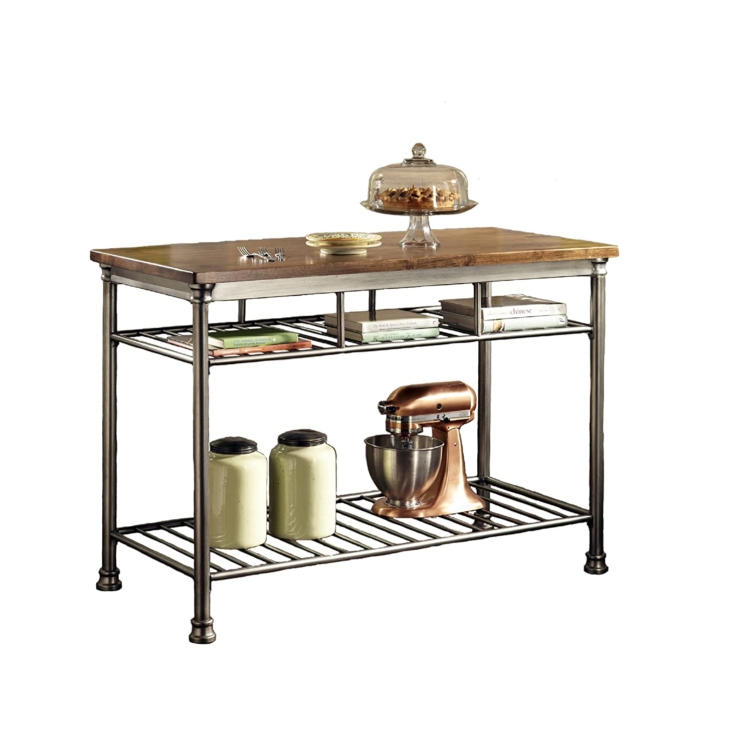 Amazoncom Home Styles The Orleans Kitchen Island Kitchen Dining - The orleans kitchen island with marble top