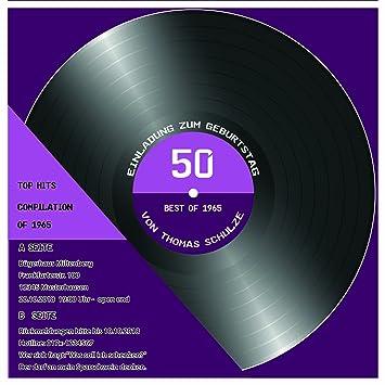 10 X Birthday Invitations Or Record Cd Cassette Design 4