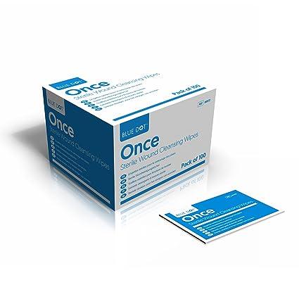 10 x Sin Alcohol Salino Húmedo Toallitas Limpiadoras Individualmente Envuelto para Botiquín Primeros Auxilios Rellenable
