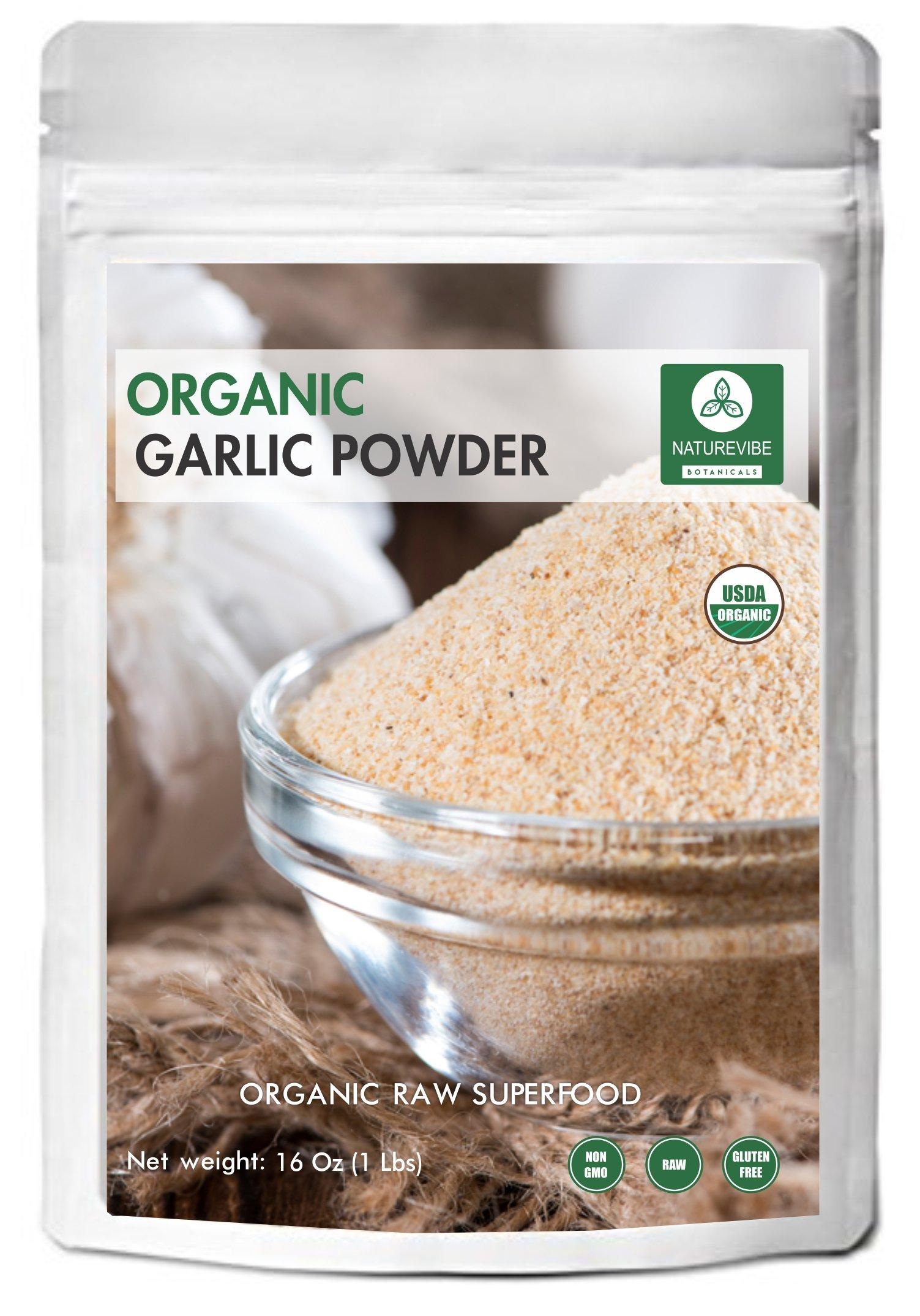 Naturevibe Botanicals - Organic Garlic Ground Powder (1 pound)