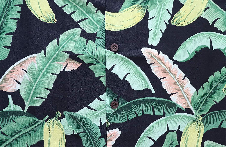 Camicia hawaiana per gli uomini 55 Aloha Party Casual Campo Pulsante Gi/ù Manica Corta Crociera Vacanza Turista Abbigliamento Spiaggia