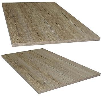Euro Tische Tischplatte San Remo Eiche Holz Platte Für Couchtisch