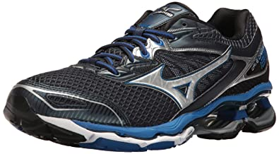 Mizuno Men's Wave Creation 18 Running Shoe, Dress Blue/Silver, ...