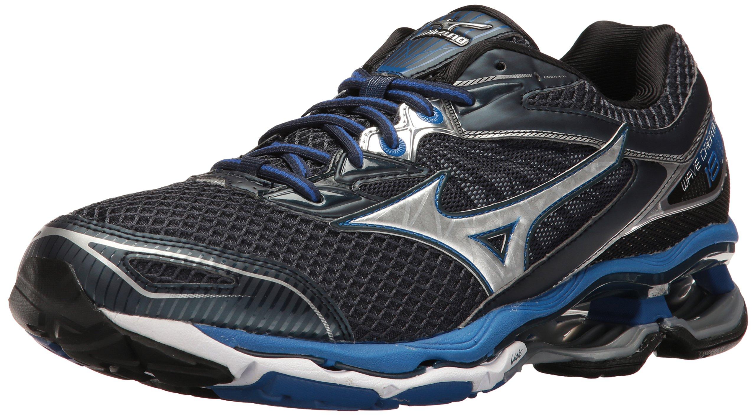 Mizuno Men's Wave Creation 18 Running Shoe, Dress Blue/Silver, 8 D US by Mizuno (Image #1)