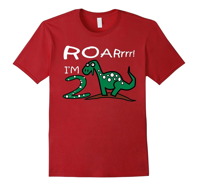 Kids 2 Year Old Boy Birthday Gift Cute Dinosaur Shirt Vaci