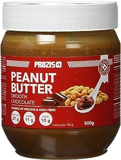 Prozis Crema de Cacahuete con Chocolate 500g - Textura Suave y Deliciosa - Fuente de Proteína