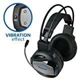 """Gaming Headset Defender G-500 - Vibration effect, Wired Gaming Bass """"Over-Ear"""" Headphones with Mic 3.5mm, LED Light Noise Cancelling & Volume Control for PS4, PC, Xbox One & etc. 