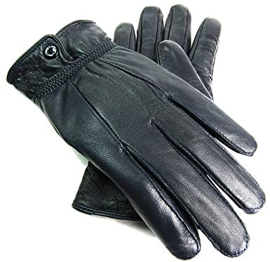 d9ca45aed3ce3 LADIES NEW SOFT LEATHER FULLY LINED GLOVES BY LORENZ 8910 (SMALL, NAVY)