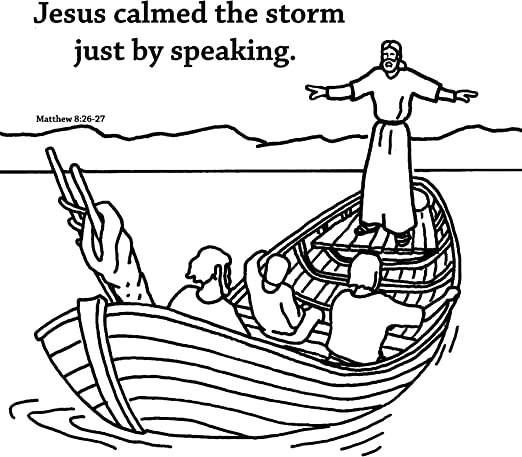 coloring pages jesus in the storm | the sea being crossed by jesus ... | 460x522