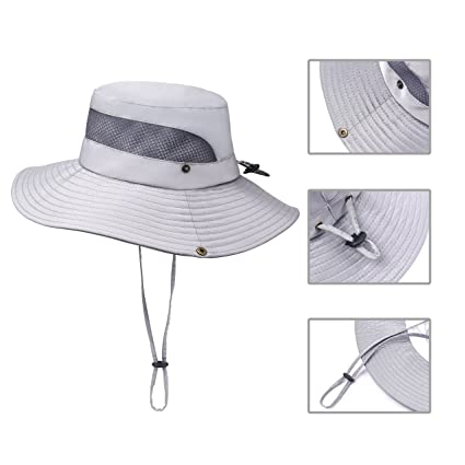 464d6757 Jogoo Outdoor Boonie Sun Hat,Summer UPF 50 Protection Fishing Hat for Men&  Women,Quick Drying and Breathable,Wide Brim Hat for Camping,Hiking and ...