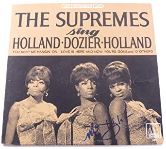 Mary Wilson Signed LP Album The Supremes Sing Holland Dozier