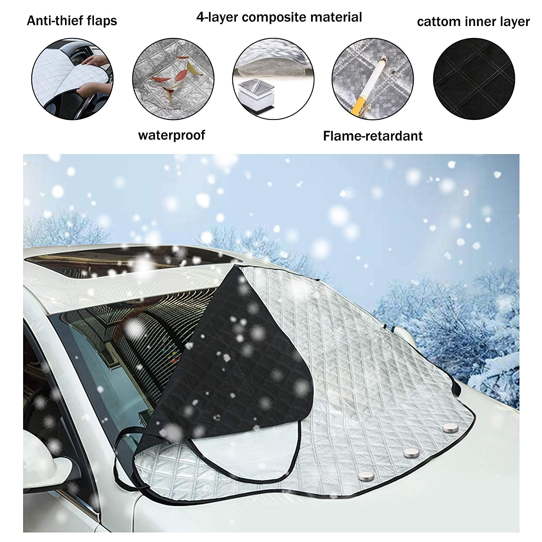 iZoeL Cubierta Parabrisas Magn/éticas Protectoras de Parabrisas Protectoras del Hielo Sol Nieve 147cm*126cm para SUV TRUCK