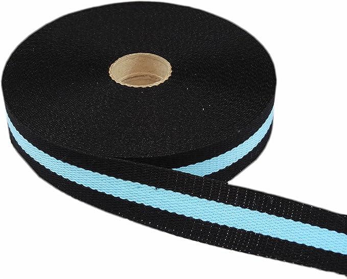 Merceries83 Cinta Correa Bicolor Negro/Turquoize Banda Accesorio Costura sesgo Artesanía Manualidades Textiles Trenza 30 mm Algodón al Metro -: Amazon.es: Hogar