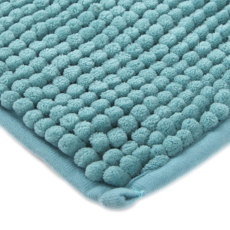 34x21 Teal TRENTON Gifts Soft Microfiber Non-Slip Rubber Bath Mat Rug Bathroom Mat