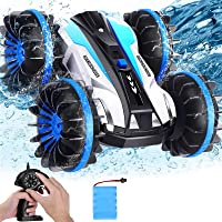 AMENON Car Toys for 6-10 Year Old Boys Amphibious Remote Control Car Boat, 3 in 1 RC Car Toys for Kids 1:16 Scale 360…