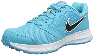 Nike Womens Downshifter Gamma Blue/Black/Mtllc Slvr/Wht Runningshoe