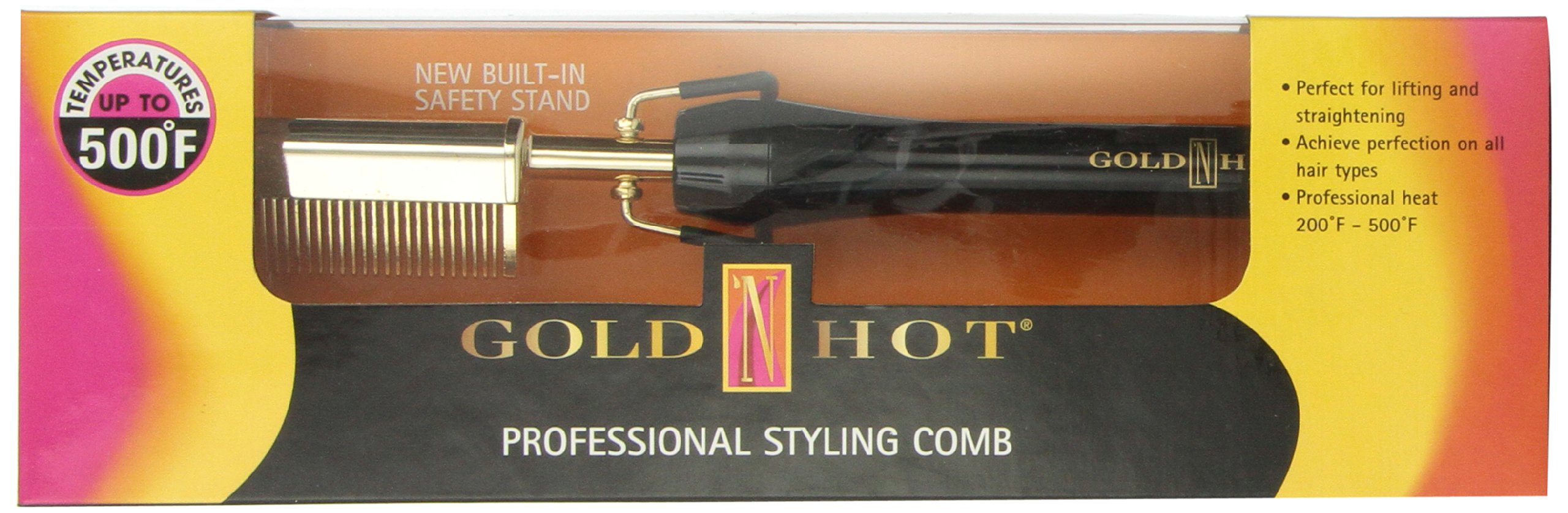 Gold N Hot Professional Styling Comb with Mtr (Multi-Temp Regulator)