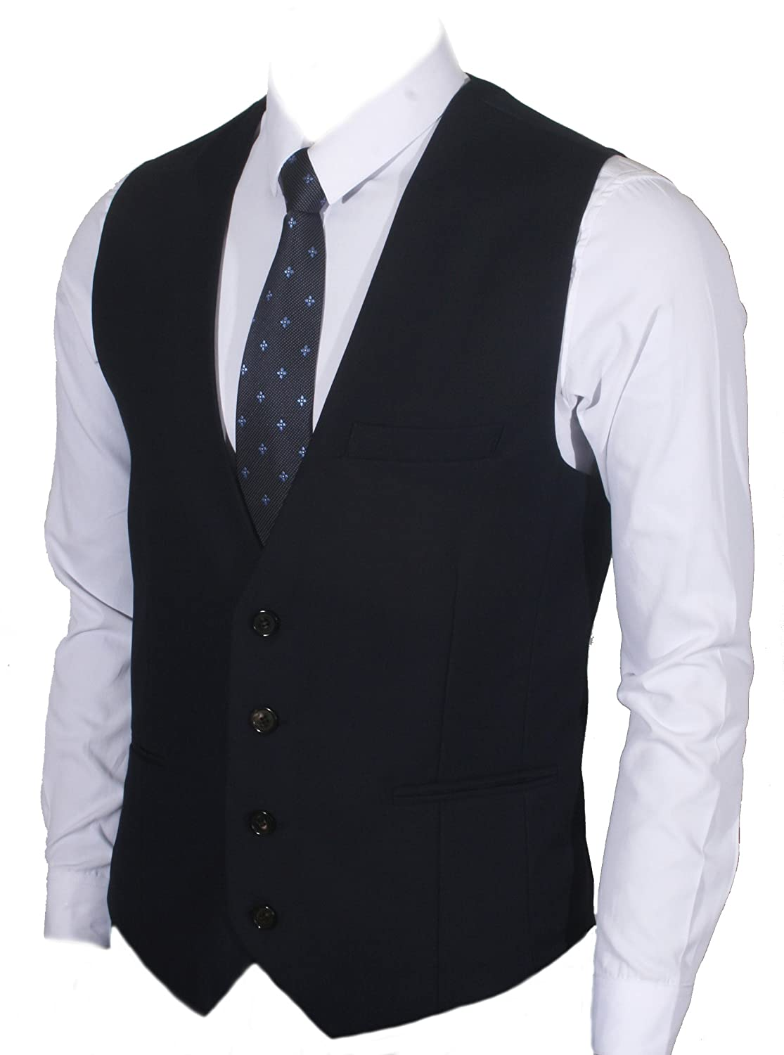 Ruth& Boaz Men's 3Pockets 4Button Business Suit Waistcoat