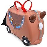 Trunki Valigia Cavalcabile Per Bambini: Il Cavallo Bronco (Marrone)