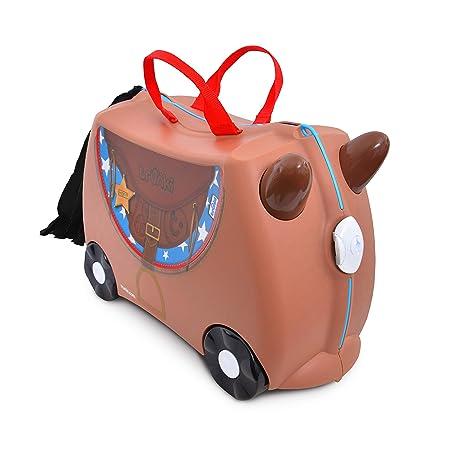 54d9bb6a9 Trunki Maleta correpasillos y equipaje de mano infantil: Caballo Bronco  (Marrón)