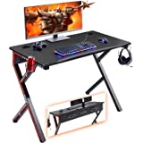 "Mr IRONSTONE Gaming Desk 45.2"" W x 23.6"" D Home Office Desk, Gaming Workstation with Power Strip of 3-Outlet & 2 USB Ports, C"