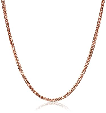 Amazon 14k rose gold 7mm diamond cut wheat chain necklace 14k rose gold 7mm diamond cut wheat chain necklace 16quot aloadofball Choice Image