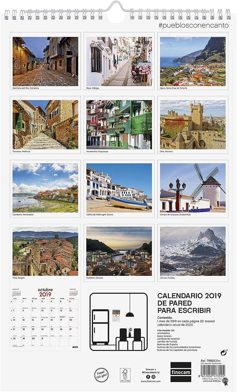 Finocam 780553319 - Calendario de pared 2019: Amazon.es: Oficina y papelería