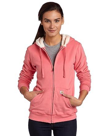 549459b0574e1 Carhartt Women's Sherpa Hooded Sweatshirt at Amazon Women's Clothing store: Fashion  Hoodies