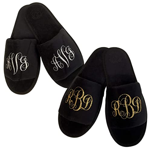 ab697b2c3bec Amazon.com  Custom Monogrammed Slippers in Multiple Colors One Size   Handmade