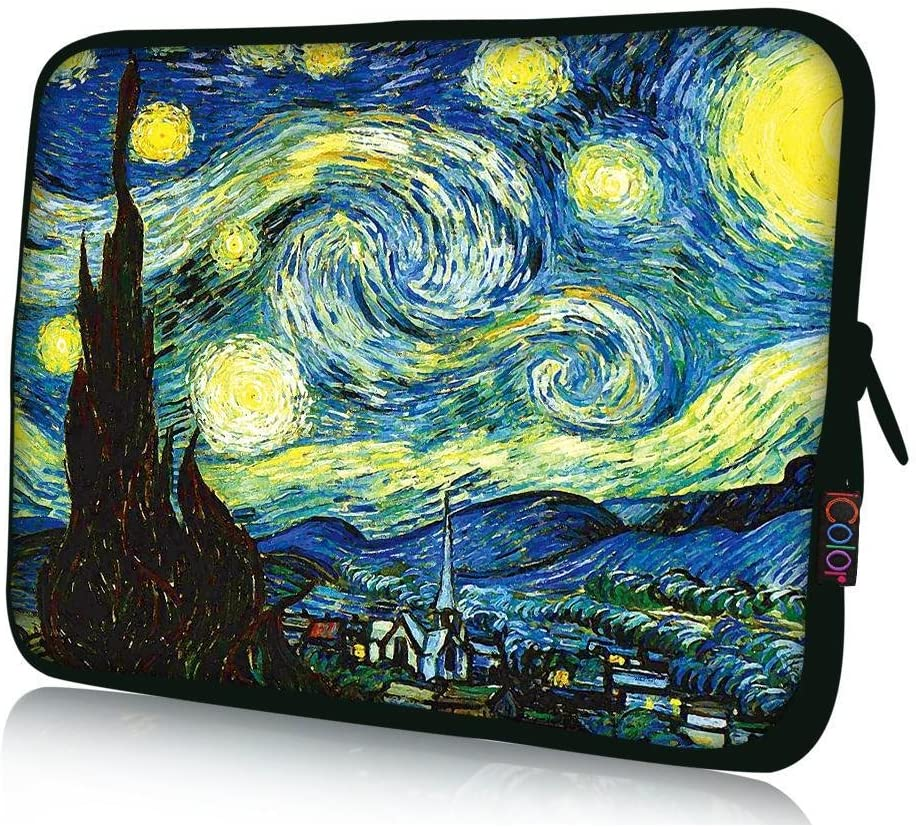 "iColor 17"" Laptop Sleeve Bag 17.3"" 17.4"" inch Notebook Computer PC Neoprene Protection Zipper Case Cover Pouch Carrier Holder"