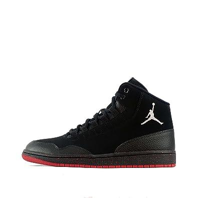 Zapatillas Jordan - Executive Prem Negro/Plateado/Rojo Talla: 42: Amazon.es: Zapatos y complementos