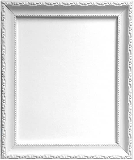 Frames By Post Shabby Chic Picture Photo Frame White A4 Amazonco