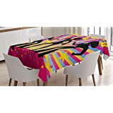 Amazon Com Ambesonne Toga Party Tablecloth Antique Temple With
