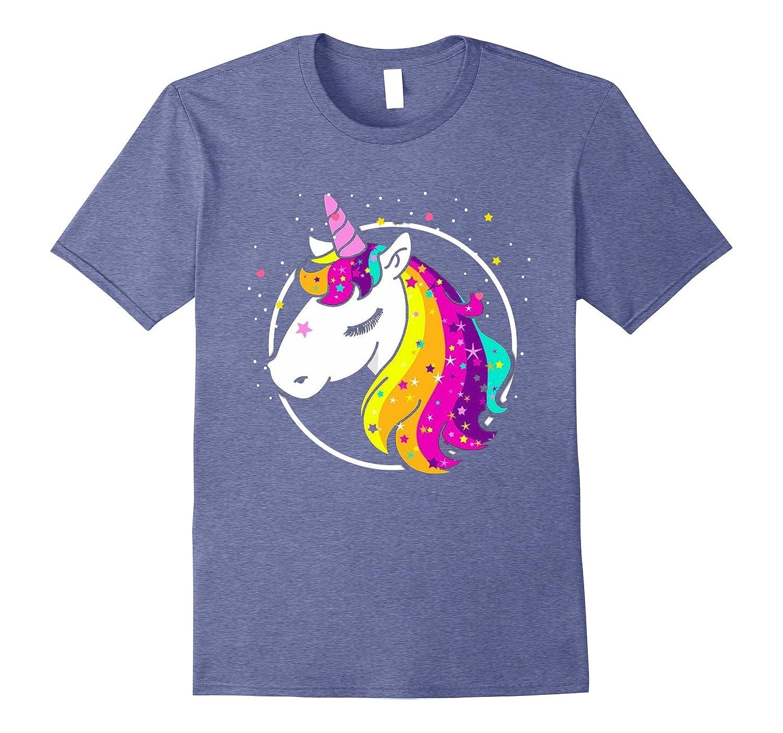 Rainbow Color Unicorn T-Shirt-T-Shirt - Managatee