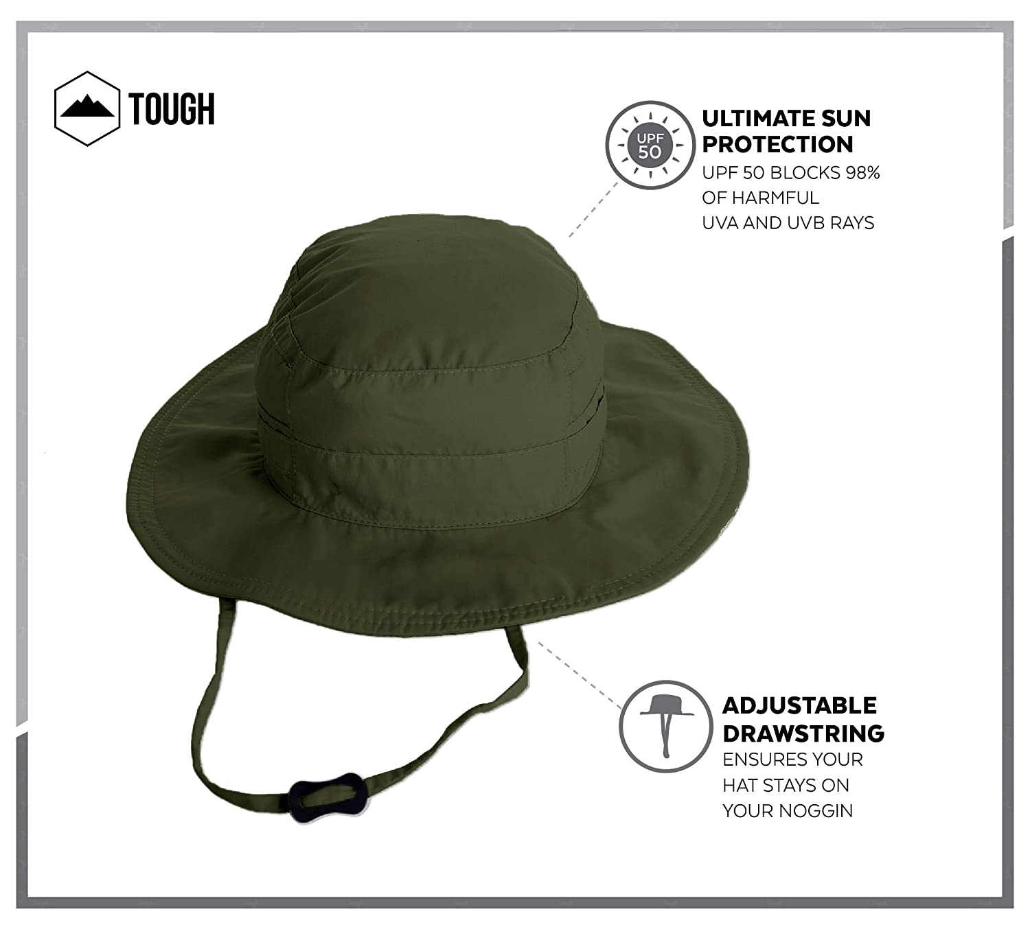 981985eae40 Amazon.com   Boonie Safari Sun Hat for Men   Women - UPF 50 Sun Protection  - Wide Brim Summer Hat. Waterproof for Fishing