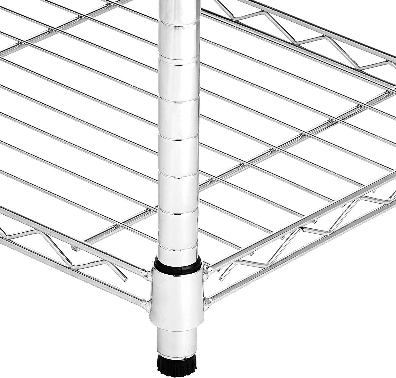 up to 160 kg per shelf Basics 4-Shelf Shelving Unit Black