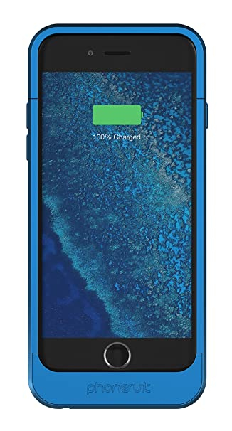 huge discount 751f0 88532 PhoneSuit Elite Pro iPhone 6 Plus Battery Case for iPhone 6 (Blue) 4200 mAh  Giving up to 120% Charge| PhoneSuit iPhone Charger Case is the ...