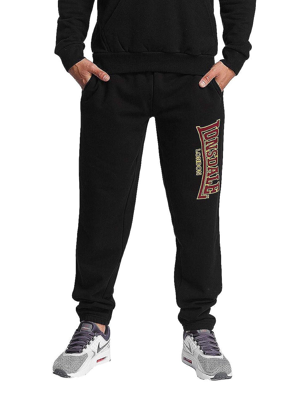 Lonsdale London - Pantalones de Jogging para Hombre, Corte Ajustado, Hombre, 113630, Negro, Large