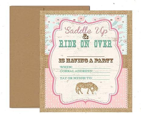 Amazoncom Pony Adoption Party Decorations Invitations and Supply